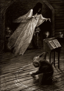 "illustration to Gogol's ""Viy"" by Edward Novikov"