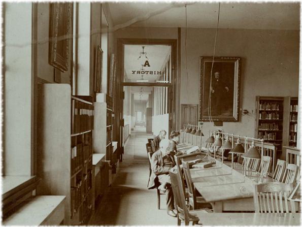 'History' reading room ca. 1900