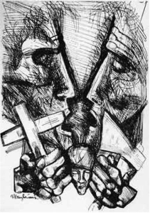 "Illustration to ""Crime and Punishment."" Artist Ernst Neizvestny"
