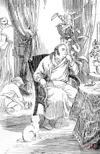 "Illustration to ""Oblomov"" Artist G. Mazurin"