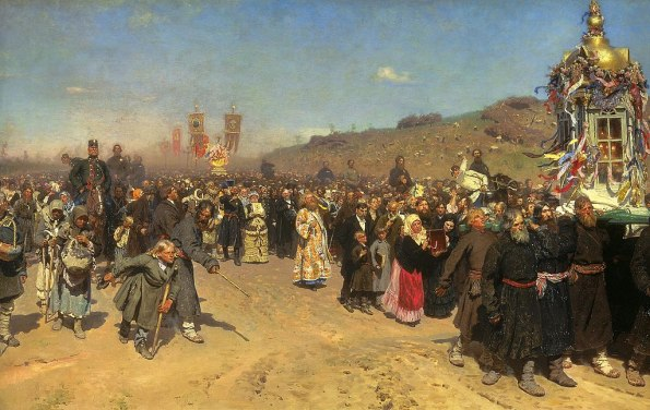 Ilya Repin, The Icon-Bearing Procession in Kursk Province, 1883