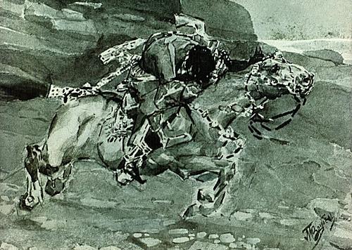 Mikhail Vrubel. Illustration to Lermontov. 1891